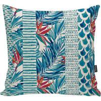 Capa Para Almofada Tropical- Azul Turquesa & Azul- 4Stm Home