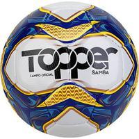 Bola De Futebol Campo Topper Samba Costurada - Unissex