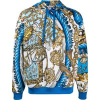 Moschino Fantasy Pattern Hooded Sweatshirt - Azul