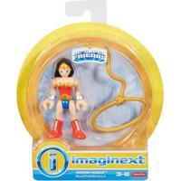 Mini Figura De Ação - Dc Comics - Imaginext - Mulher Maravilha Com Acessórios 15 Cm - Mattel - Feminino-Incolor