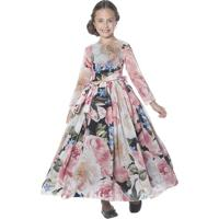 Vestido Longo Floral- Rosa & Pretopetit Cherie
