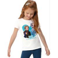 Blusa Branca Anna & Elsa Frozen®
