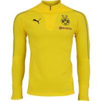 Jaqueta Borussia Dortmund 1/4 Training Puma - Masculina - Amarelo