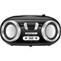 Rádio Portátil Boom Box Nbx-13 Usb Auxiliar Rádio Fm 6W Preto Bivolt Mondial