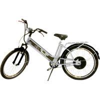 Bicicleta Elétrica Scooter Brasil Daytona 800W 48V 12Ah Prata