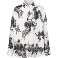 Burberry Camisa Com Estampa De Anjo - Branco
