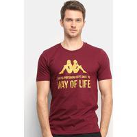Camiseta Kappa Way Of Life Masculina - Masculino-Bordô