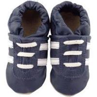 Pantufa Catz Calçados Infantil Couro Angel - Unissex-Marinho