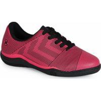 Chuteira Futsal Infantil Listras Pink