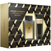 Kit 1 Perfume Masculino The Golden Secret Antonio Banderas 100Ml 1 Pós Barba 75Ml - Masculino-Incolor