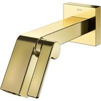 Torneira Para Banheiro Parede Stillo Ouro Polido - Docol - Docol
