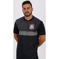 Camiseta Corinthians Peter Masculina - Masculino-Preto+Cinza