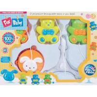 Brinquedo Para Bebe Mobile P/Berco Urso Musical Pais E Filhos