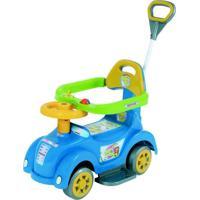 Andador Baby Car Azul Com Empurrador Biemme