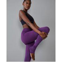 Amaro Feminino Legging Yoga Biodegradável Com Franzido, Berinjela