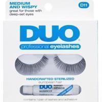 Cílios Postiços Eyelashes D11 Duo - Cílios Postiços Kit - Feminino-Incolor