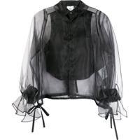 Comme Des Garçons Noir Kei Ninomiya Blusa Translúcida Com Botões - Preto