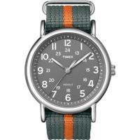 Relógio Masculino Timex Bicolor, Analógico, Pulseira De Nylon, Caixa De 3,8Cm, Resistente À Água 3 Atm - T2N649Wwtn