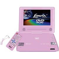 Dvd Player Lenoxx Rosa Tela 7'' Dt508