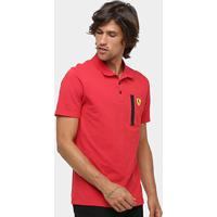 Camisa Polo Puma Scuderia Ferrari Masculina - Masculino-Vermelho