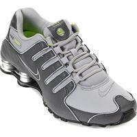 Tênis Nike Shox Nz Masculino - Masculino-Cinza+Verde