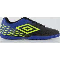 Chuteira Umbro Fifty Ii Futsal Preta E Azul