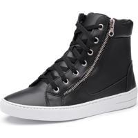 Tênis Cano Alto Top Franca Shoes Preto