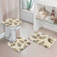 Jogo Tapetes Para Banheiro Folhas Marble