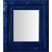 Espelho Moldura Rococó Externo 16350 Azul Art Shop