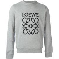 Loewe Moletom Com Logo Bordado - Cinza