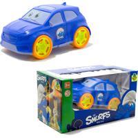 Carrinho Smurfs Para Criança - Azul - Samba Toys - Kanui