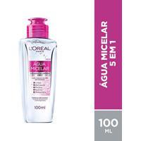 Água Micelar L'Oréal Paris Solução De Limpeza Facial 5 Em 1 100Ml - Feminino-Incolor