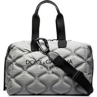 Dolce & Gabbana Mala Matelassê Com Estampa De Logo - Cinza