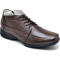 Sapato Gh Calcados Cadarco Conforto Masculino - Masculino-Café