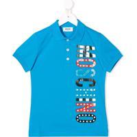 Moschino Kids Camisa Polo Com Logo - Azul