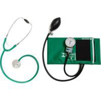 Kit Aparelho De Pressão Verde Com Esteto Simples Verde Cjpa103 P.A.Med