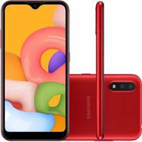 Smartphone Samsung Galaxy A01 32Gb 2Gb Ram A015 Vermelho