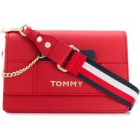 Tommy Hilfiger Bolsa Transversal Com Logo - Vermelho