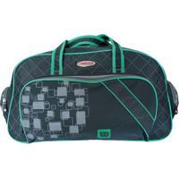 Bolsa Esportiva- Cinza & Verde- 49X27X24Cm- Wilswilson