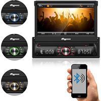 Dvd Retratil Tela 7 Bluetooth Usb Aquarius 6617