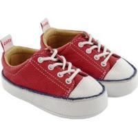 Tênis Infantil Couro Catz Calçados Noody Cadarço - Unissex-Vermelho