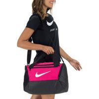 Mala Nike Brasilia Xs 9.0 - 25 Litros - Rosa/Preto