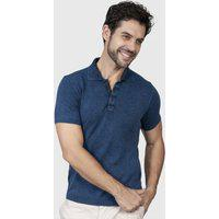 Camiseta Polo Básica - Le Tisserand - Azul Stone