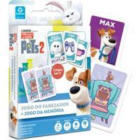 Jogos De Cartas - Pets 2 - Jogo Do Farejador E Jogo Da Memória - Copag