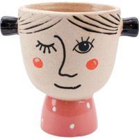Vaso Decorativo De Resina Rustica Com Estampa De