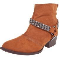 d00810f666 Bota Dafiti Shoes Cano Curto Strass Caramelo