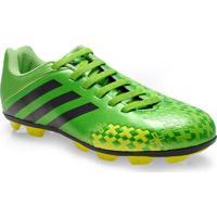 Chuteira Masc Infantil Adidas Q23887 Predito Lz Trx Hg J Verde/Limao