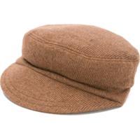 Douuod Kids Knitted Flat Cap - Marrom