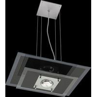 Pendente Saturno Aluminio E Vidro Lmr 139 Escovado Bivolt