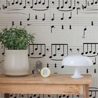 Papel De Parede Notas Músicais 3 Metros X 44 Cm